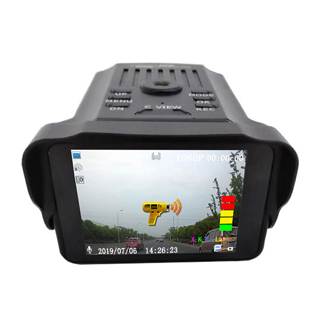 Cross-border Vehicle Recorder for VG2 Two-in-One Vehicle Recorder Electronic Dog Vehicle Radar Speed Measurement Flow Early Warning Voice Broadcasting Safety Instrument
