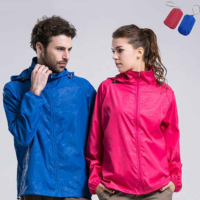 Men's Women's Hiking Raincoat Hiking Skin Jacket Hiking Windbreaker Summer Outdoor Lightweight Windproof Sunscreen UV Resistant Jacket Hoodie Top Waterproof Camping / Hiking Fishing Climbing Dark