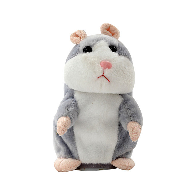Stuffed Animal Talking Stuffed Animals Plush Toy Plush Toys Plush Dolls Hamster Sounds Talking Plastic Shell Imaginative Play, Stocking, Great Birthday Gifts Party Favor Supplies Boys and Girls Kids