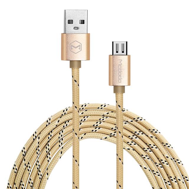 MCDODO 5V 2.4A Micro USB  Braided Wire Data Charging Line