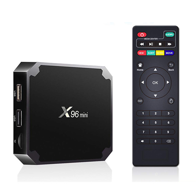 X96 Mini Android TV BOX New X96mini Android 7.1 OS  Smart TV Box 2GB 16GB Amlogic S905W Quad Core 2.4GHz WiFi Media Player Box 1GB 8GB
