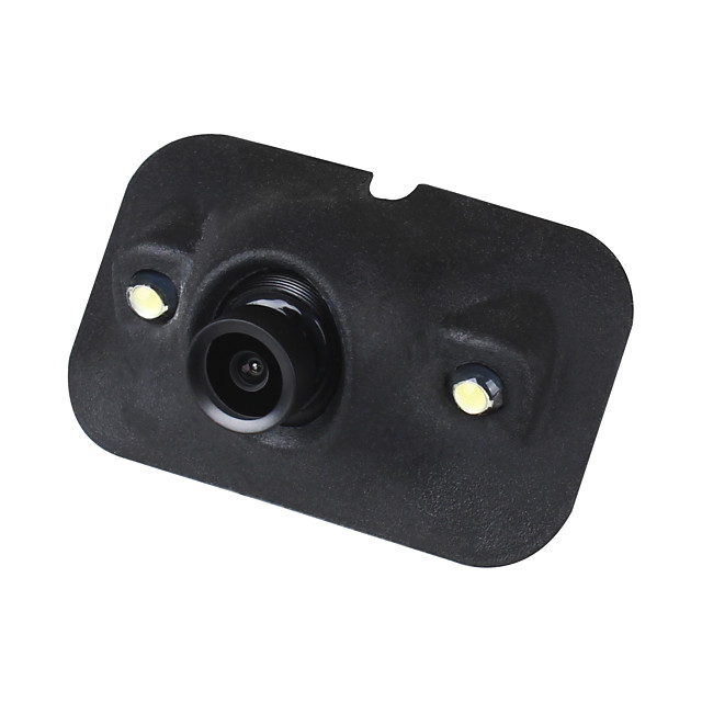 ZIQIAO Mini CCD HD Night Vision 360 Degree Car Rear View Camera Front Camera Front View Side Reversing Backup Camera 2 LED