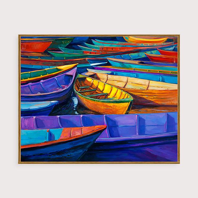 Framed Art Print Framed Set - Abstract Landscape PS Oil Painting Wall Art