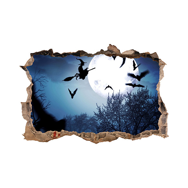 3D Halloween Wall Stickers Decorative Wall Stickers, PVC Home Decoration Wall Decal Wall Decoration / Removable