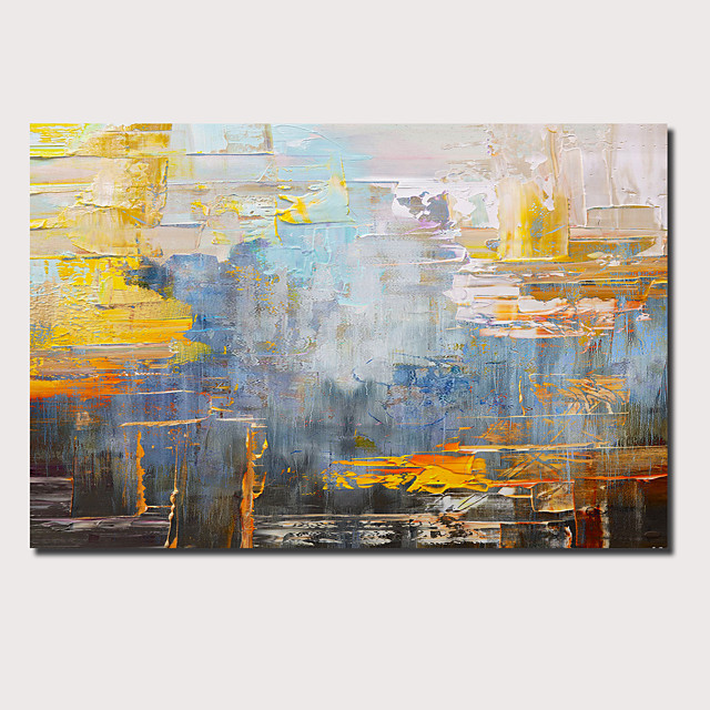 Oil Painting Hand Painted Horizontal Panoramic Abstract Landscape Comtemporary Modern Stretched Canvas