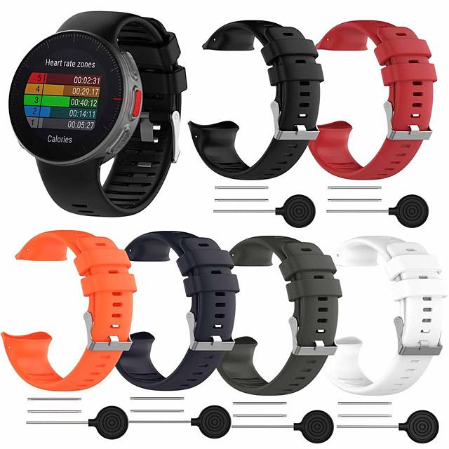 Watch Band for POLAR VANTAGE V Polar / Fitbit Sport Band TPE Wrist Strap