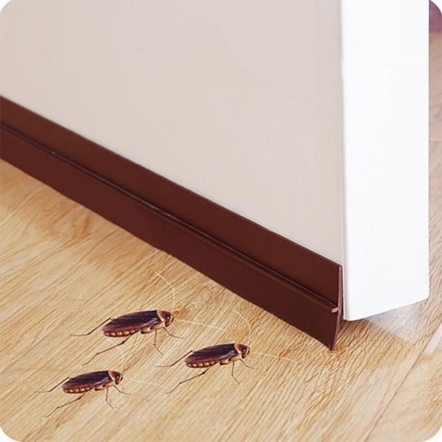 Self Adhesive Bottom Door Window Tape 2m Rubber Sealing Strip Weather striping Sound Insulation Sliding Door Seal Strip