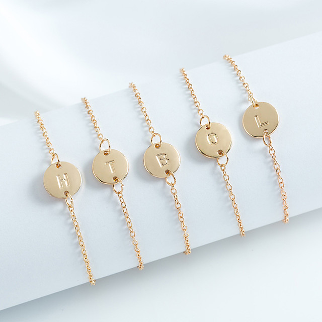 Personalized Customized Bracelet Number Gift Daily Holiday 1pcs Rose Gold Gold Silver / Laser Engraving