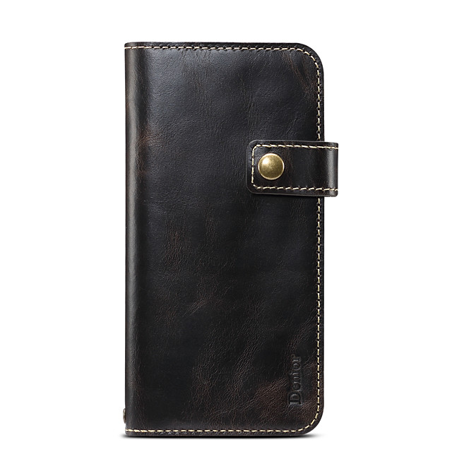 Case For   iPhone 12 Card Holder Shockproof Full Body Cases Solid Colored PU Leather Genuine Leather