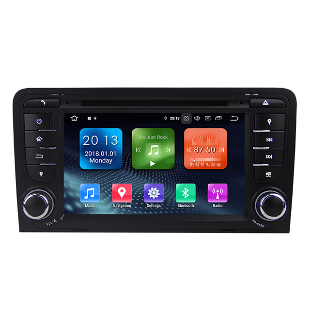 Factory OEM WN7047 7 inch 2 DIN Android / Android 9.0 In-Dash Car DVD Player / Car GPS Navigator GPS / Built-in Bluetooth / RDS for Audi RCA Support MPEG / AVI / MOV MP3 / FLAC / APE JPEG / GIF / BMP