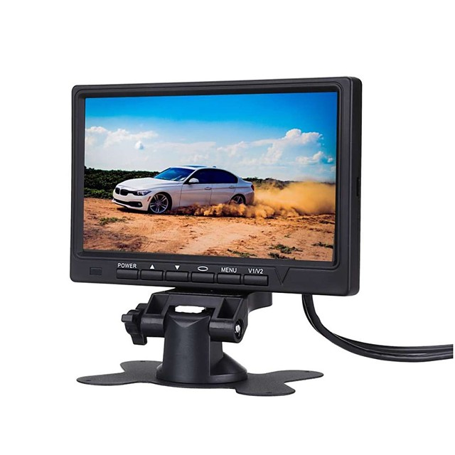 7 Inch Car Monitor 800*480 TFT Color LCD Screen Car Parking System Monitor For Car Reverse