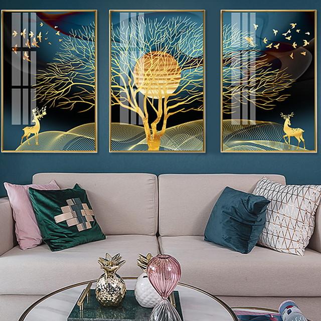 Framed Oil Painting - Still Life Alloy Oil Painting Wall Art