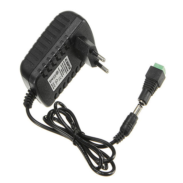 AC100-240V TO DC12V 2A 24W Power Supply Adapter For Strip Light  Female Connecto