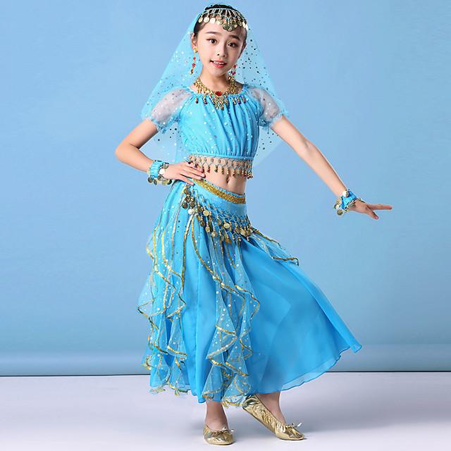 Kids Chiffon Maxi Dress Child Girls Ruffle Ballet Dance Skate Casual Party Skirt