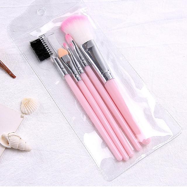 Professional Makeup Brushes 5 pcs Soft Full Coverage Plastic for Concealer & Base