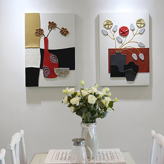 Framed Oil Painting - Still Life Acrylic Oil Painting Wall Art