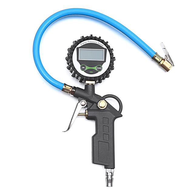 220PSI 16Bar Digital Tire Inflator Pressure Gauge Tester Air Chuck Hose