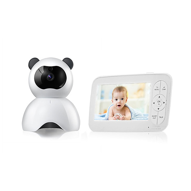 1MP Baby Monitor CMOS Night Vision Range 5m Wireless Security Camera  Two Way Audio Remote Viewing Zoom Night Vision Motion Detect LCD Display 720P HD Two-Way Audio Temperature Sound Alarm Security