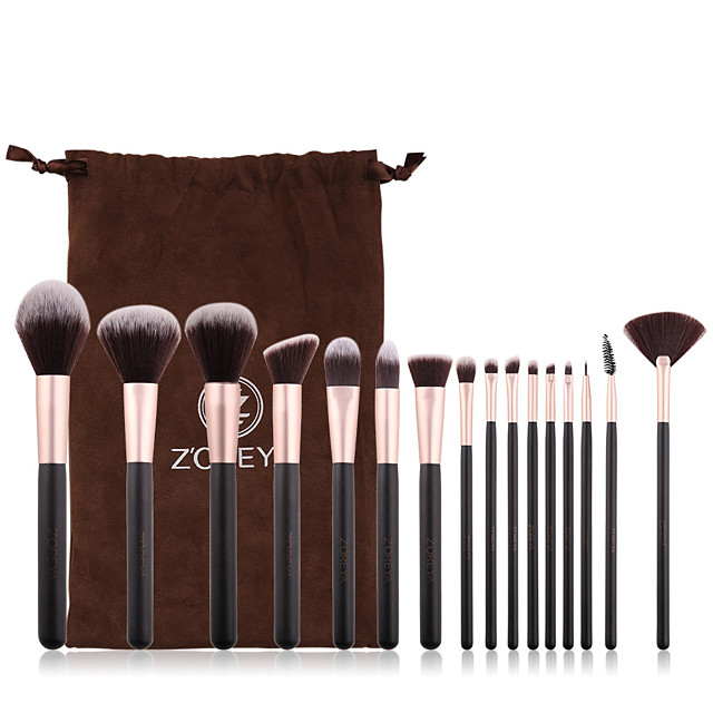 Professional Makeup Brushes 16pcs Cute Soft Comfy Wooden / Bamboo for Makeup Brush
