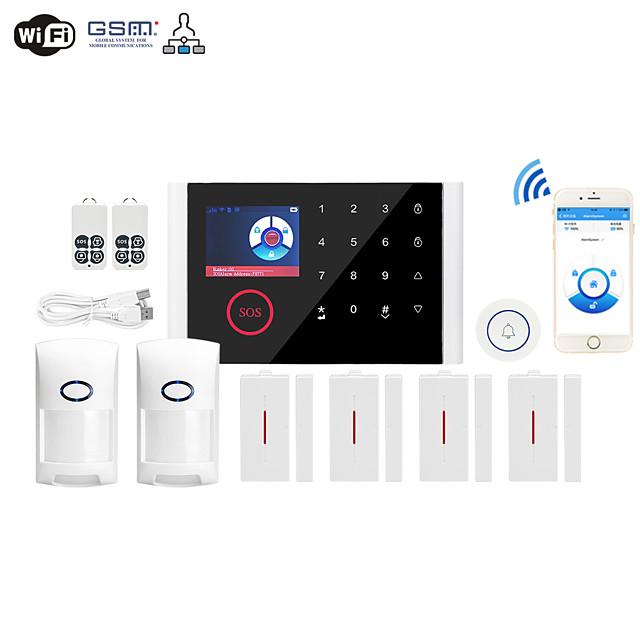 WIFI+GSM Multi-network Language Wireless Gsm Burglar Alarm Wifi Home Alarm Host Wireless Doorbell Alarm System Others / Home Alarm Systems / Alarm Host GSM + WIFI iOS / Android Platform GSM + WIFI