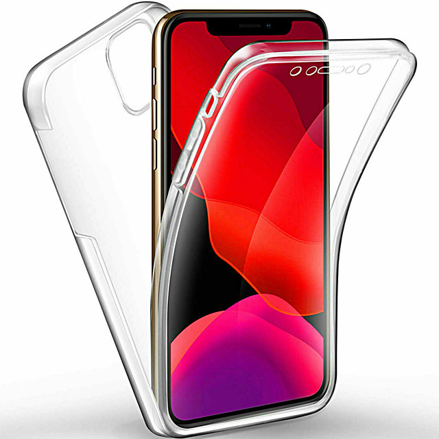 360 Degree Full Body Case For iphone 11 Pro / iphone 11 Pro Max / iphone 11 Case Transparent PC Silicone Thin Gel TPU Soft Cover For iphone XS Max XR XS X 8 Plus 8 7 Plus 7 6 Plus 6