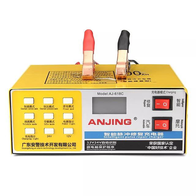 12V/24V LCD Display Battery Charger Intelligent Pulse Repair Dry Wet Smart