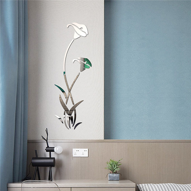 3D Wall Stickers Mirror Wall Stickers Decorative Wall Stickers, Acrylic Home Decoration Wall Decal Wall Decoration 1pc