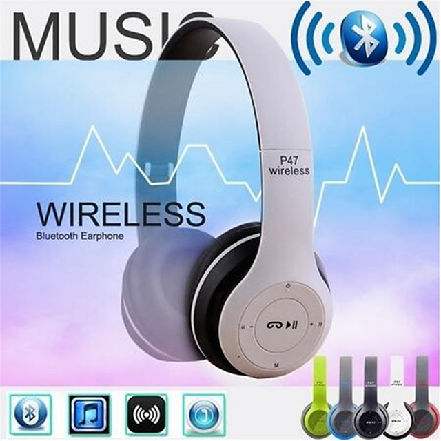 Wireless Bluetooth Headphones Noise Cancelling Headset Foldable Stereo Bass Sound Adjustable Earphones With Mic For PC Phone