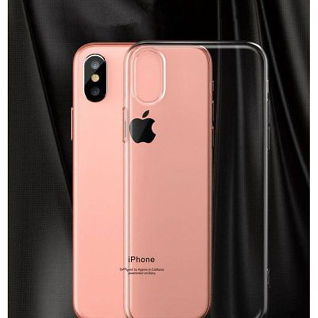 Apple iphone6 7plus mobile phone case Applicable 1.0MM no mold line set TPU X drop protection shell