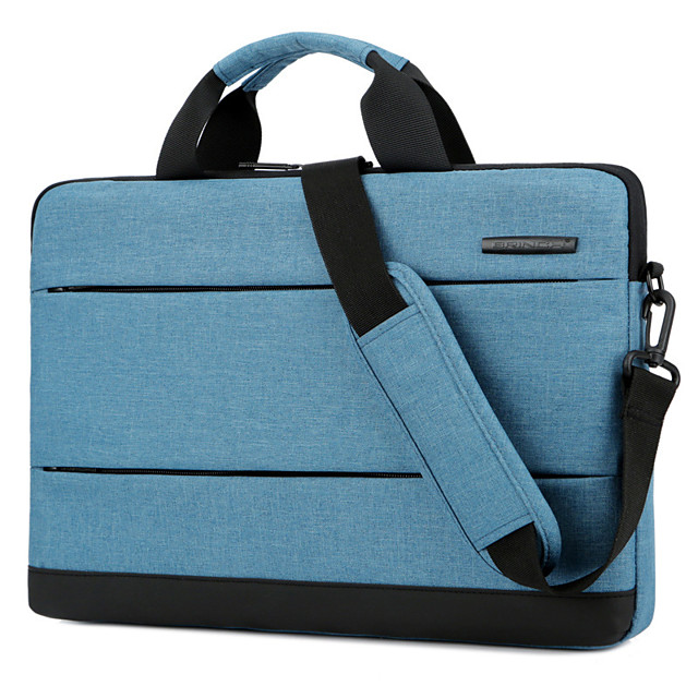 Unisex Polyester Laptop Bag Zipper Solid Color Daily Office & Career Purple Navy Blue Gray