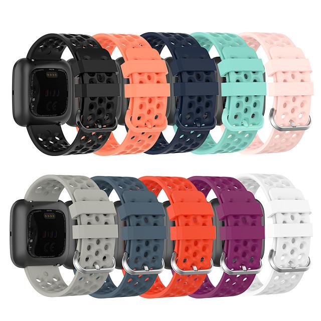 Watch Band for Fitbit Versa / Fitbit Versa Lite / Fitbit  Versa 2 Fitbit Classic Buckle Silicone Wrist Strap