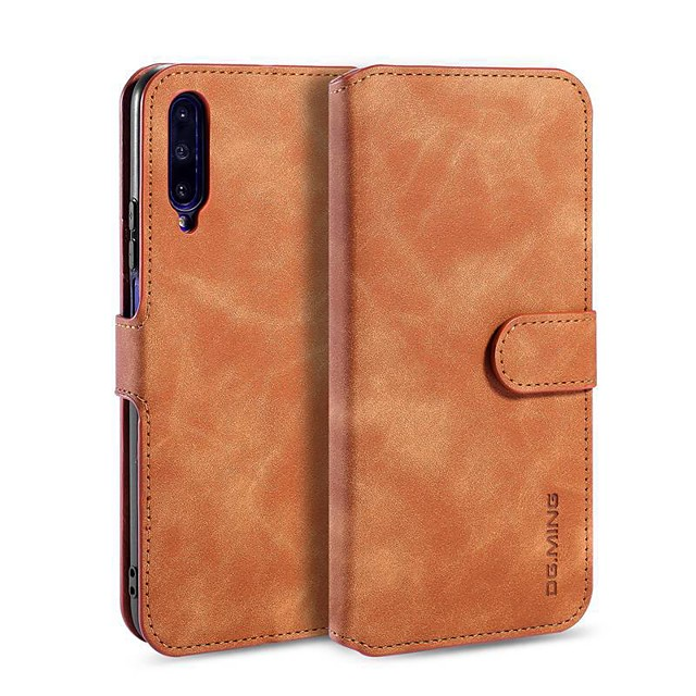Case For Huawei Huawei Y7 Pro(2019) / Huawei Y6 Pro (2019) / Huawei Y6 (2019) Wallet / Card Holder / with Stand Full Body Cases Solid Colored PU Leather