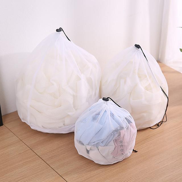 2PCS Washing Laundry bag Clothing Care Foldable Protection Net Filter Underwear Bra Socks Underwear Washing Machine Clothes