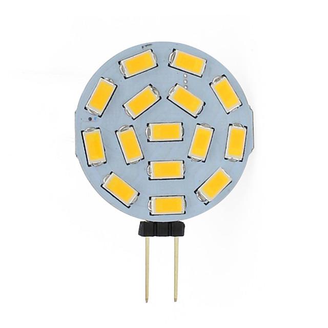 G4 15 leds 5730 2W corn led Mini Lampada led Bulb Beads Dimmable Decorative Warm White Daylight White AC12V DC12-24V 1pc