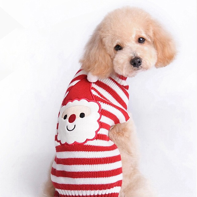 Dog Sweatshirt Reindeer Christmas Winter Dog Clothes Puppy Clothes Dog Outfits Red Costume for Girl and Boy Dog Terylene XS S M L XL