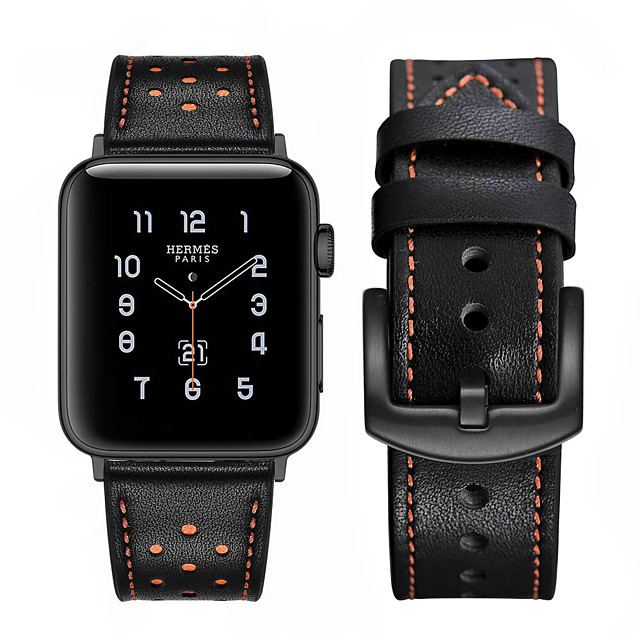 Watch Band for Apple Watch Series 6 SE 5 4 3 2 1 Apple Leather Loop Genuine Leather Wrist Strap