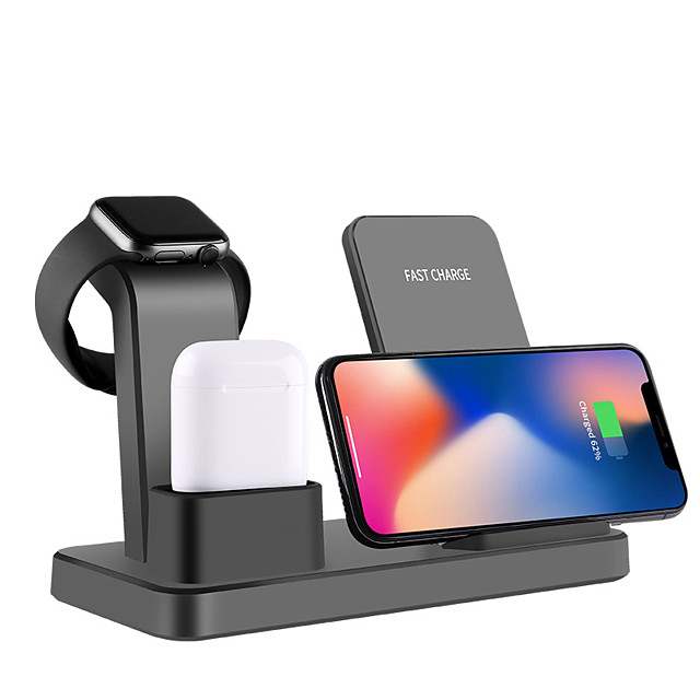 Wireless Charger Qi Multi-function 3 in 1 Quick Wireless Charger for Apple iPhone/ iWatch/ AirPods/iPhone 11/ iPhone 11 Pro/ iPhone 11 ProMax and Other Android Smart Phones