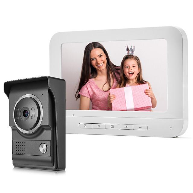 XINSILU XSL-V70M 7 inch Wired Camera Door Bell Hands-free 800480 Pixel One to One Video Doorphone Smart Home Decroration