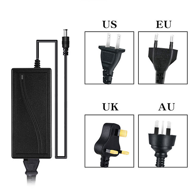 Power Supply Adapter 12V 4A Charger Universal AC100-240V  For Routers 3528/5050 LED Strip Lights CCTV Cameras