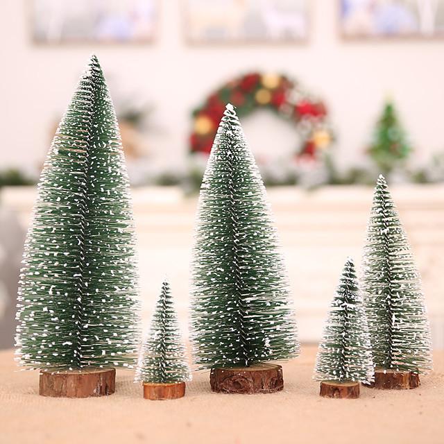 5pcs Christmas Tree Small Pine Christmas Ornament Desk Mini Christmas Decoration