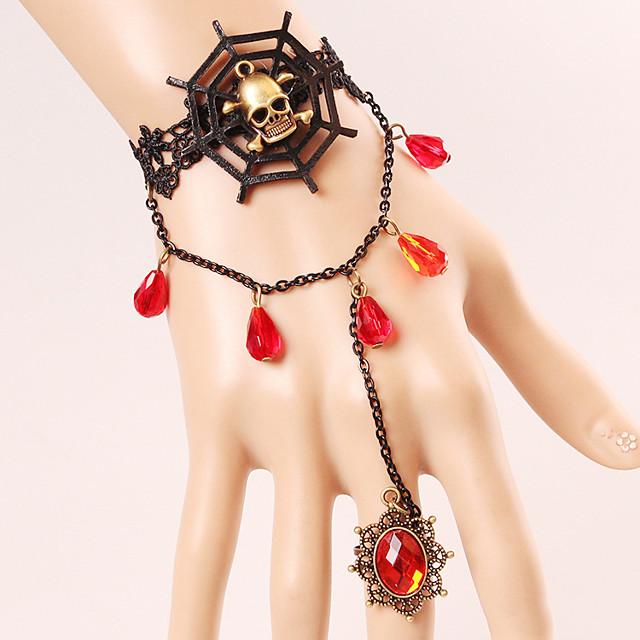 반지 팔찌 가면 레트로 / 빈티지 할로윈 합금 제품 마녀 코스프레 할로윈 카니발 여성용 의상 보석 패션 쥬얼리