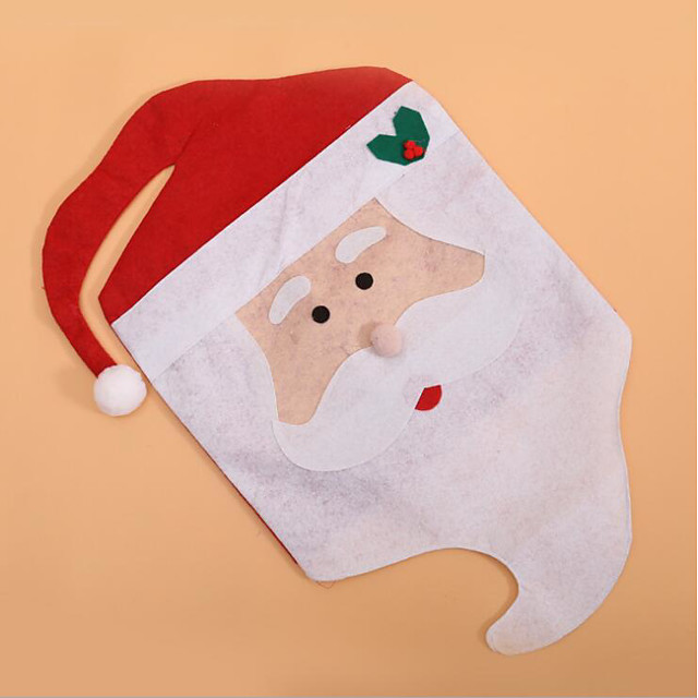Chair Cover Christmas / Holiday Non-woven Party Christmas Decoration
