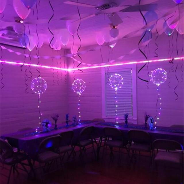 6Pcs LED Luminous Led Balloon Transparent Round Bubble Decoration Birthday Party Wedding Decor LED Balloons Christmas Gift