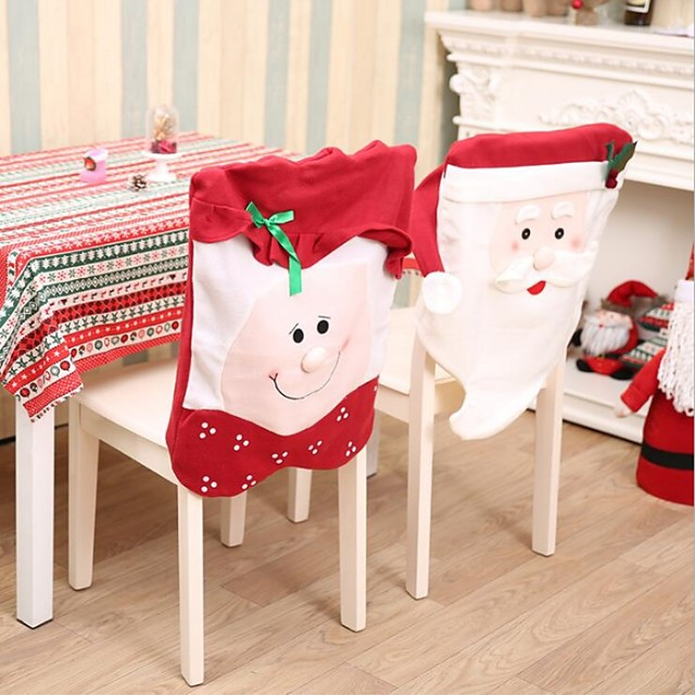 Chair Cover Christmas / Holiday Non-woven Cartoon / Party Christmas Decoration