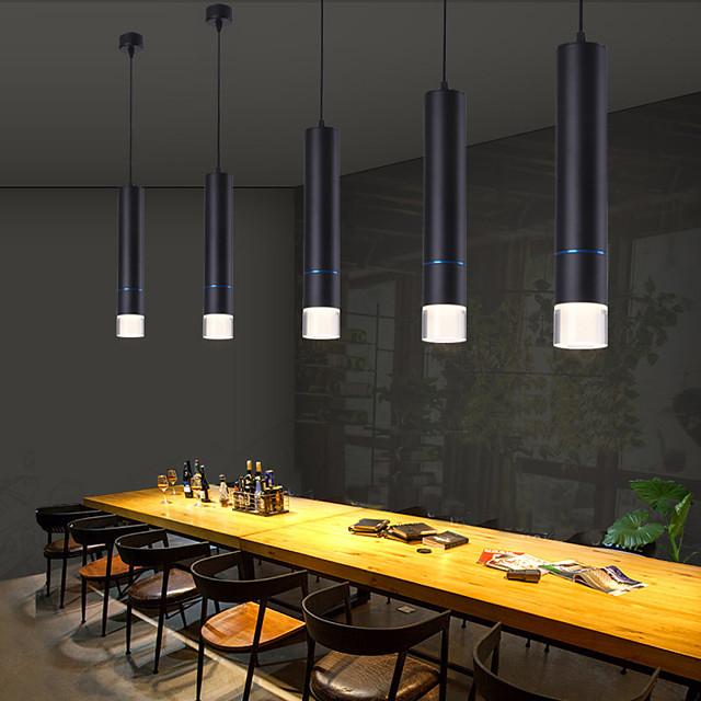 1-Light 6 cm Creative Adjustable Pendant Light Aluminum Acrylic Island Electroplated LED Nordic Style