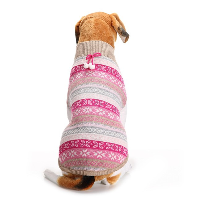 Dog Sweater Snowflake Christmas Christmas Winter Dog Clothes Puppy Clothes Dog Outfits Fuchsia Blue Costume for Girl and Boy Dog Acrylic Fibers XXS XS S M L XL