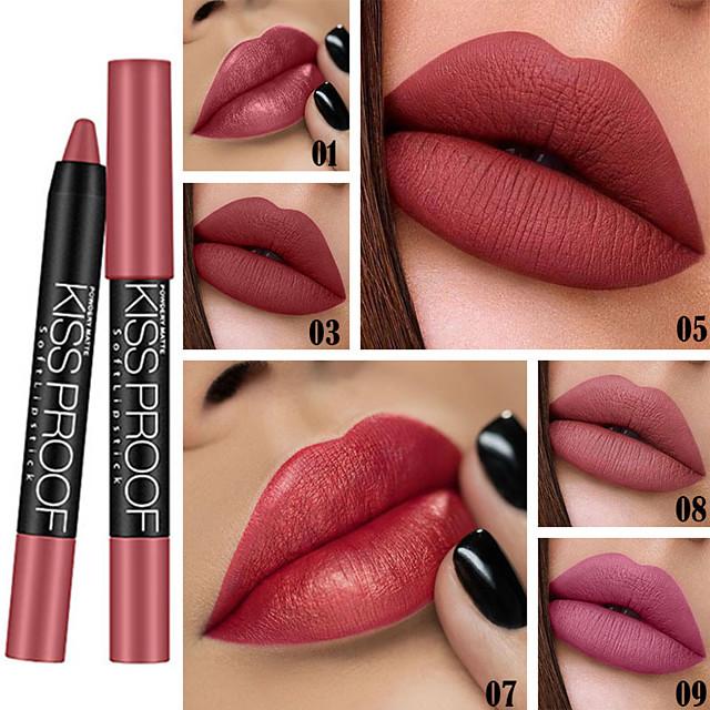 Brand DNM Sexy Lipstick Lip Gloss Lasting Waterproof Velvet Matte Lipstick Pen Non-Stick Cup Lip Makeup