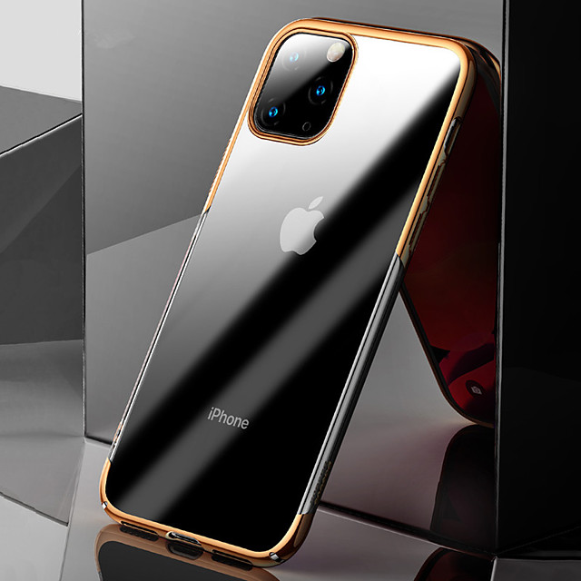 Case For Apple iPhone 11 Pro Max Shockproof / Plating / Ultra-thin Back Cover Transparent TPU