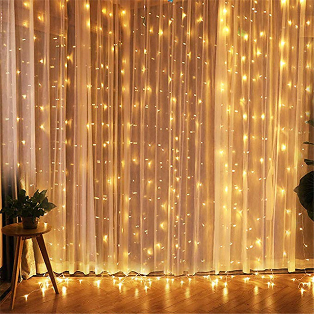 1pcs 3*3m Led Icicle Led Curtain Fairy StringLlight Fairy Light 300 led Christmas Light for Wedding Home Window Party Decor