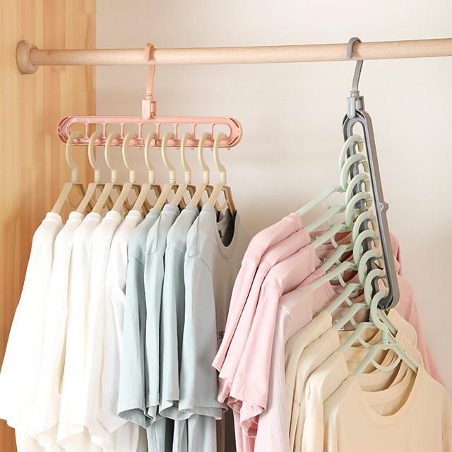 2pcs Clothes Coat Hanger Organizer Multi-port Support Drying Racks Plastic Scarf Cabide Storage Rack Hangers